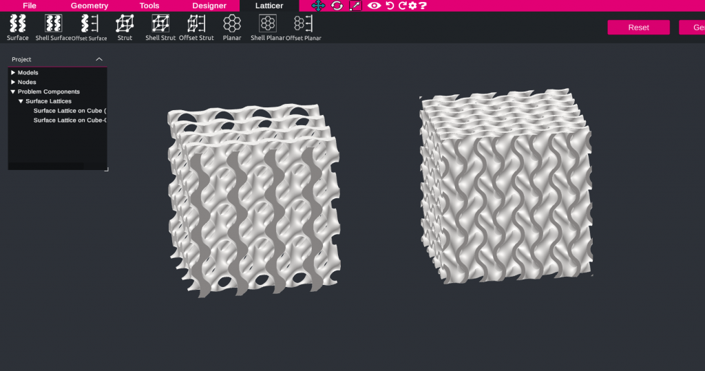 Two types of TPMS gyroid lattice - types of lattices for additive manufacturing