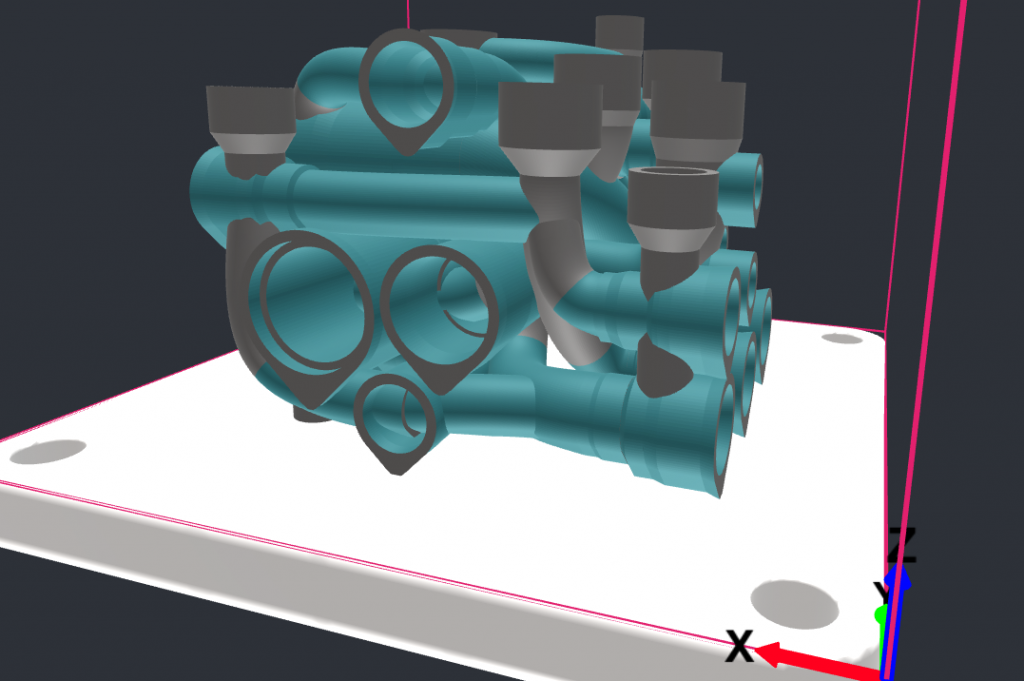 Gen3D manifold design - additive manufacturing